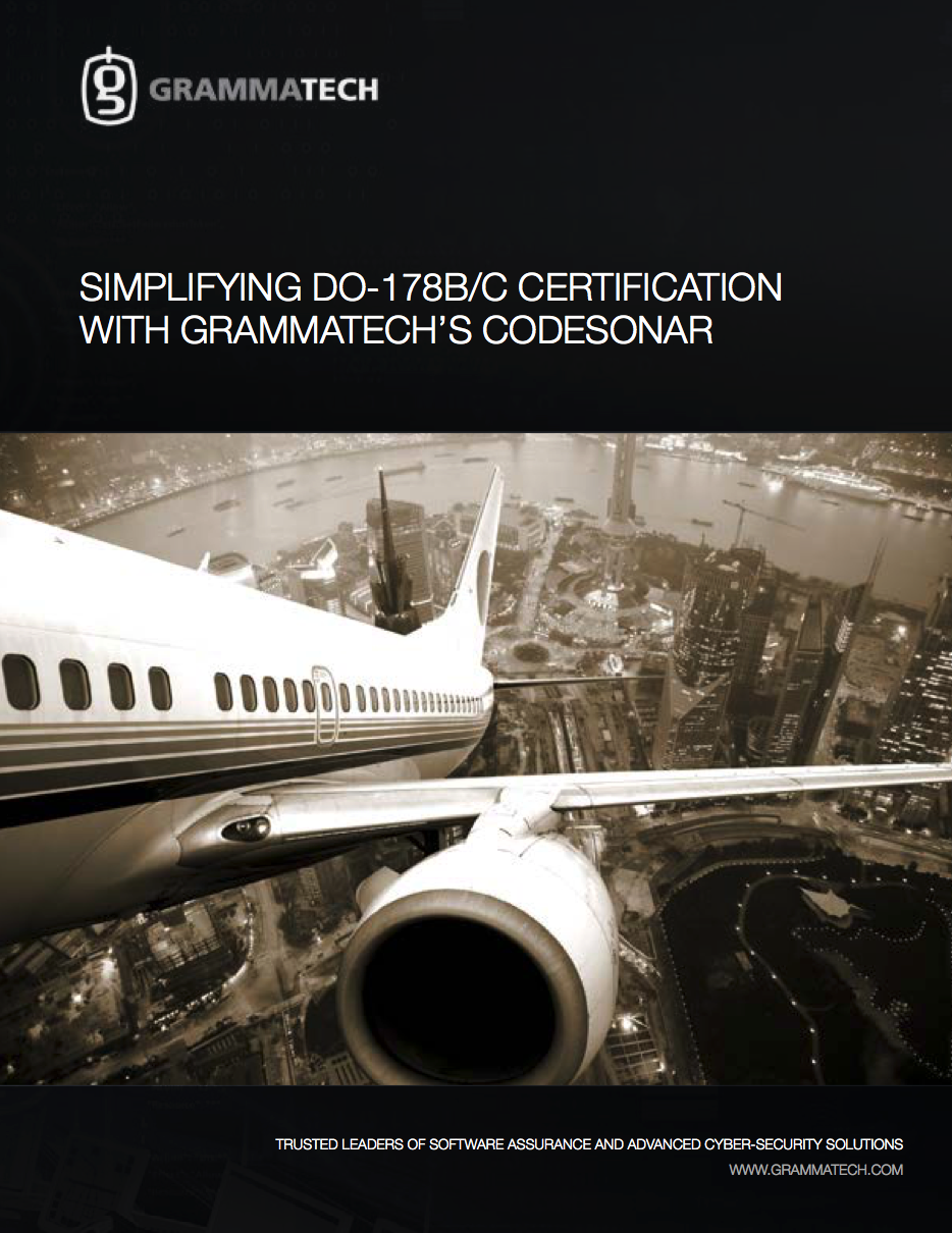 Simplifying DO-178B/C Certification with GrammaTech's CodeSonar