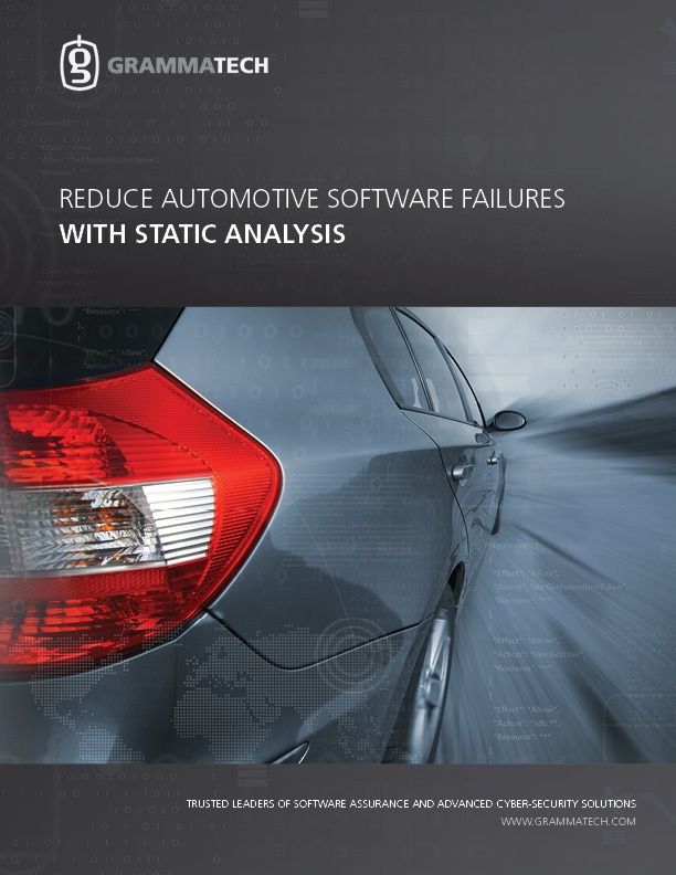 Reduce automotive software failures with static analysis