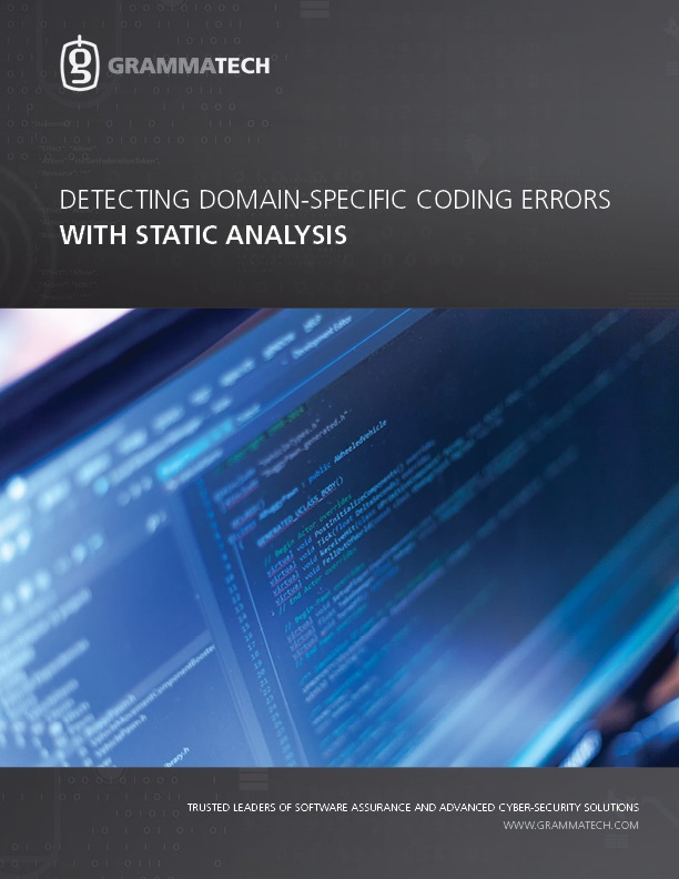 Detecting Domain-Specific Coding Errors with Static Analysis