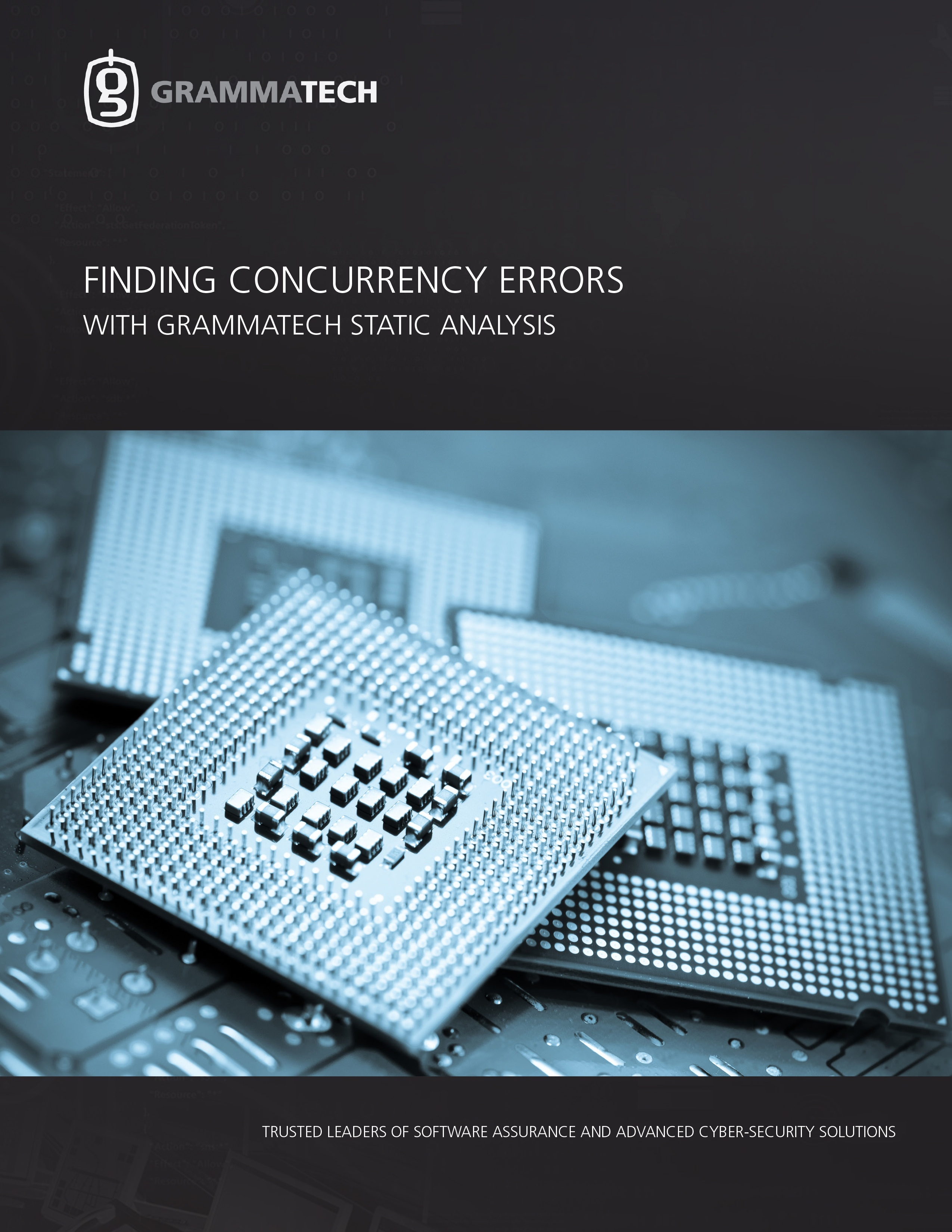 Finding Concurrency Errors with GrammaTech Static Analysis